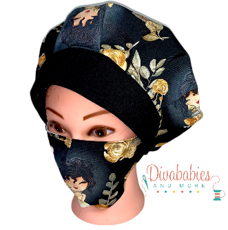 Custom Selena Bouffant Surgical Cap & Mask Set