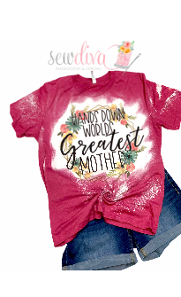 Custom Worlds Greatest Mother Bleached  Shirt