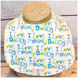 Love Mommy and Daddy Bib