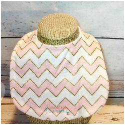Pink and Gold Chevron Baby Bib