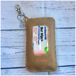 Tan Travel Wipe Case