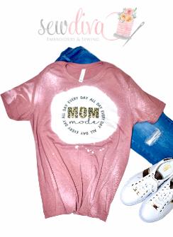 Bleached Leopard Mom Mode Shirt