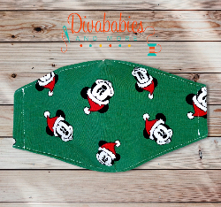 Custom Mr Mouse Christmas Face Mask