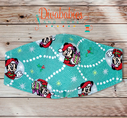 Custom Miss Mouse Christmas Face Mask