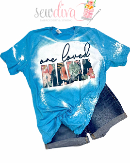 Custom One Loved Mama Bleached  Shirt
