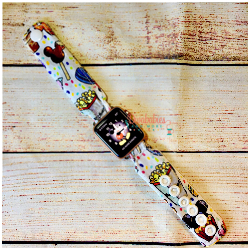White Snacks Watch Band