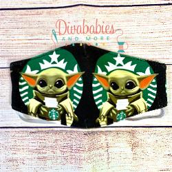Custom Baby Y Coffee Face Mask