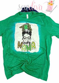 Bleached Leopard Lucky Mama Shirt