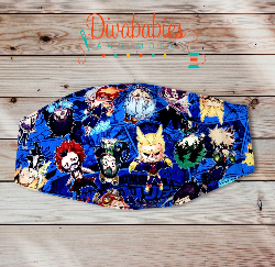 Anime M. H. A. Characters Custom Sewn Face Mask