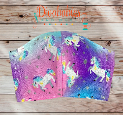Custom Sleepy Rainbow Tie Dye Unicorn Face Mask