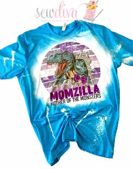 Custom Momzilla Bleached  Shirt