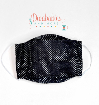 Custom Black & White Polka Dot 3-D Mask