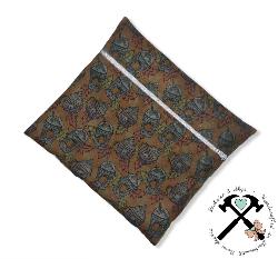 Small zippered wet bag - PUMPKIN SPICE