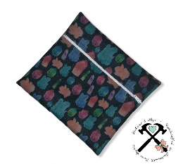 Small zippered wet bag - CRYSTALS