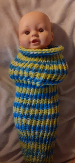 SALE Baby Cocoon- Blue and Yellow Insired by the Charger
