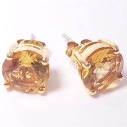 A Beauty's Best Citrine Earrings 14k 925 Sterling Silver Princess Cosplay Jewelry