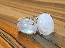 Cindy's Dreams Moonstone Earrings, 925 Sterling Silver