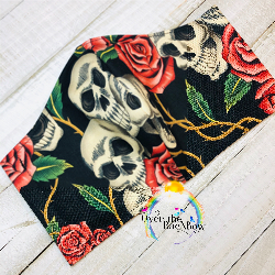 Skull & Rose Face Mask
