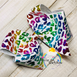 Rainbow Cheetah Jumbo bow