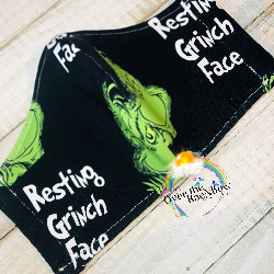 Resting Grinch Face Mask