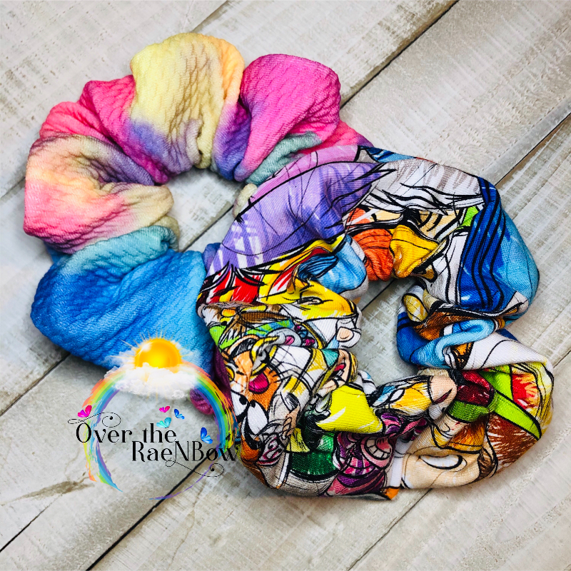 Disney Sketchy Scrunchie Set