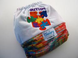 Pixelating Rainbow with Autism Embroidery