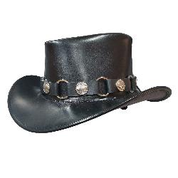 Buffalo Nickel Band Leather Cowboy Hat
