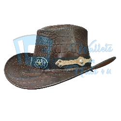 Crocodile Leather Cowboy Hat