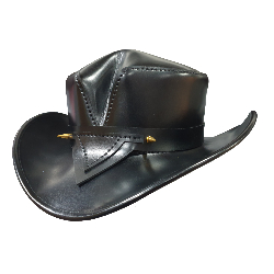 Wicked Rambler Black Leather Hat
