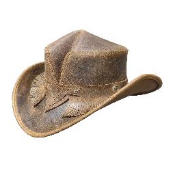 Rambler Fringed Band Leather Hat