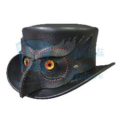 El Dorado Owl Eyes Leather top Hat