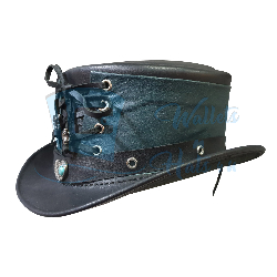 Steampunk Vested Short Top Leather Hat
