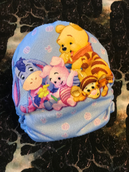 Baby Pooh Everywhere OS Cloth Diaper MTO Turn around time 2-4 weeks. Pocket/AI2