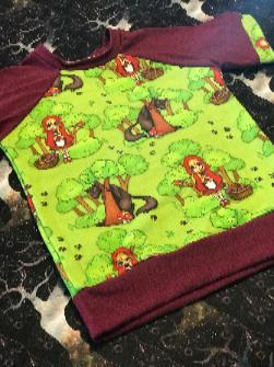 Red Riding Hood Raglan T-Shirt 4T