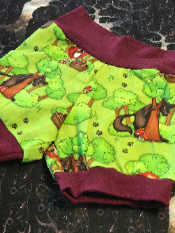 Red Riding Hood Shorties/Bloomers 3/4T