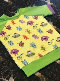 Monsters Raglan T-Shirt 4T