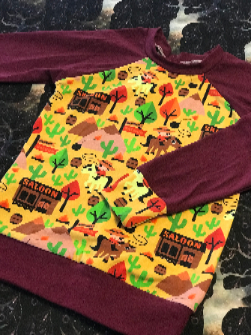 Free W/ purchase over $100 Saloon Days Raglan T-Shirt 4T