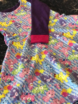 Care Bears 4t Long Sleeve Knee High Dress with Pockets