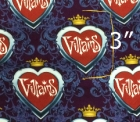 1yd cut Small Scale Villains Heart Damask Fabric C