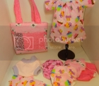 surprise print Dolly diaper bag set!
