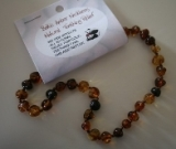 Baltic Amber Rounded Baby Teething Necklace POPPY SEED
