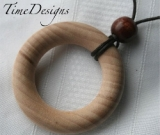 Maple Wooden Teething and Nursing Necklace--ROUND--3 Color Choices