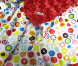 Red /w white circle ole satin - 'Lankie - Regular $20
