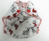 Reindeer Velour /w white cotton velour - newborn