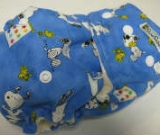 Blue Snoopy /w white cotton velour - Designer Woven Hidden PUL Ai2