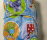 Jungle Minky /w blue organic bamboo velour - T&T Sleepytime