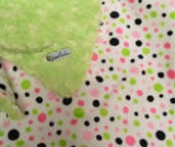 Lime /w Pink & Lime Dot Minky - B�b� (Minky) - Regular $45
