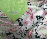 Lime /w lime paisley satin - 'Lankie - Regular $20