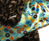 Chocolate /w Blue Circle Ole Satin - B�b� (Satin) - Regular $45