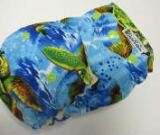 Turtles /w blue cotton velour - Designer Woven Hidden PUL Ai2